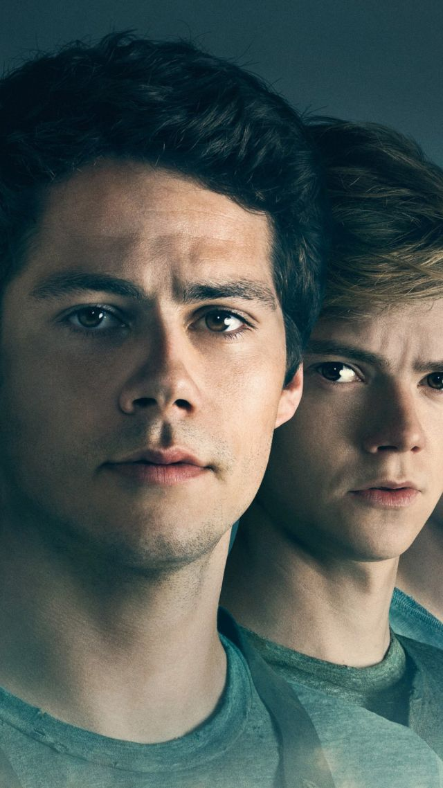 Maze Runner: The Death Cure, Dylan O'Brien, Thomas Brodie-Sangster, Kaya Scodelario, HD (vertical)