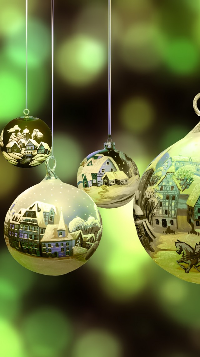 Christmas, New Year, Santa, balls, decorations, HD (vertical)