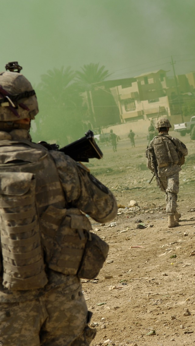Hand Grenade US Army Evacuation Iraq Troops Vertical