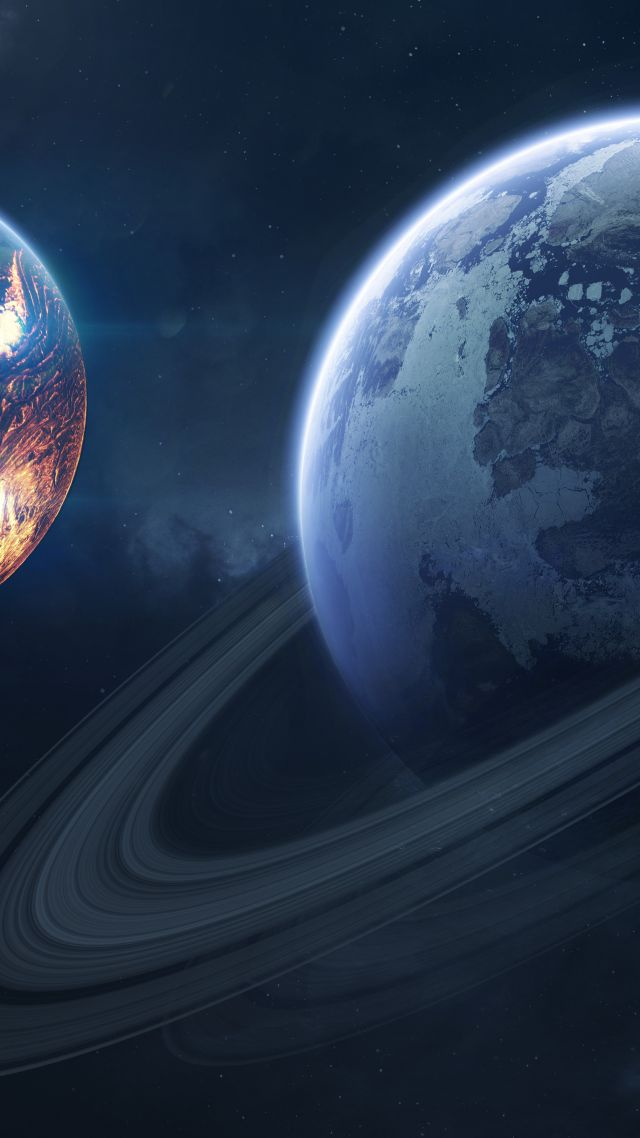 Wallpaper Saturn Planet 4k Space 16829