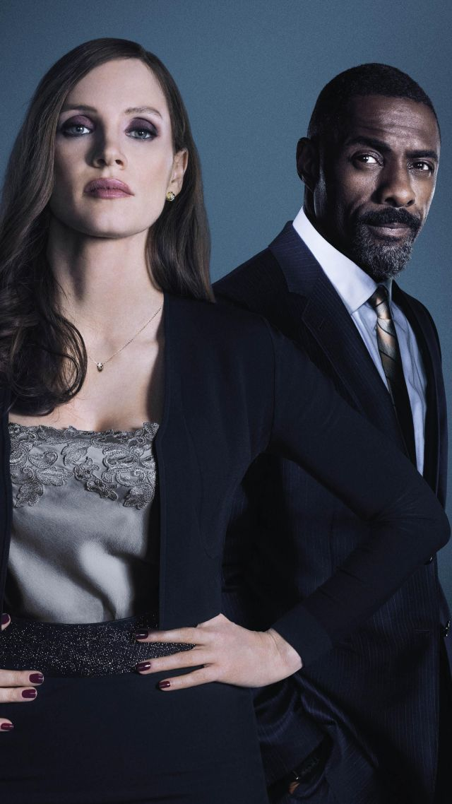 Molly's Game, Jessica Chastain, Idris Elba, 5k (vertical)