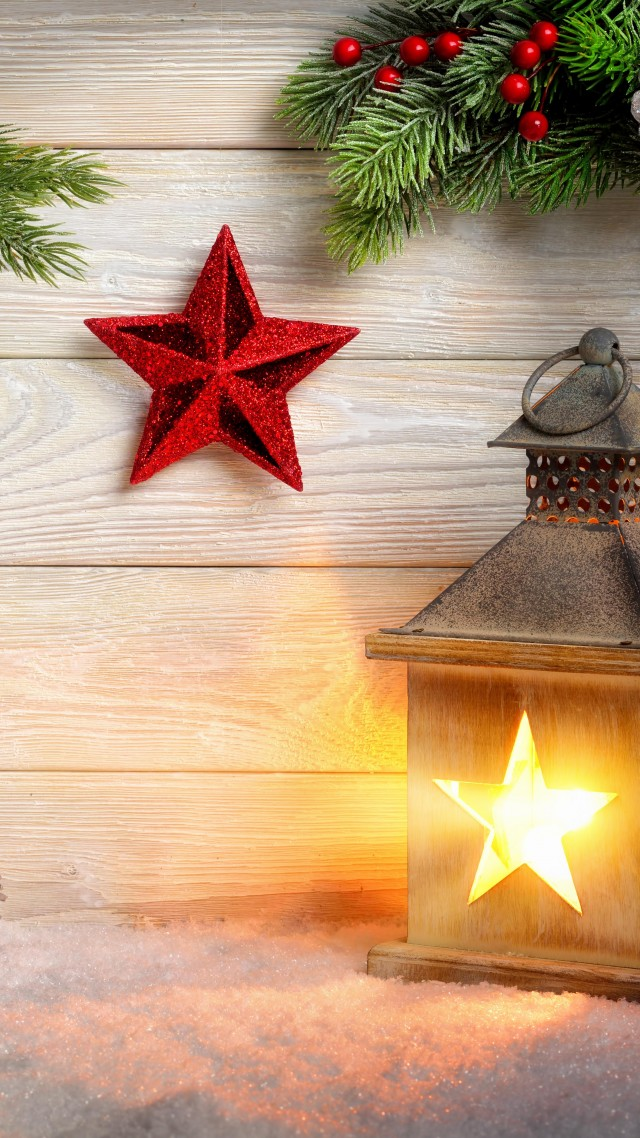 Wallpaper Christmas New Year Toys Fir Tree Lamp