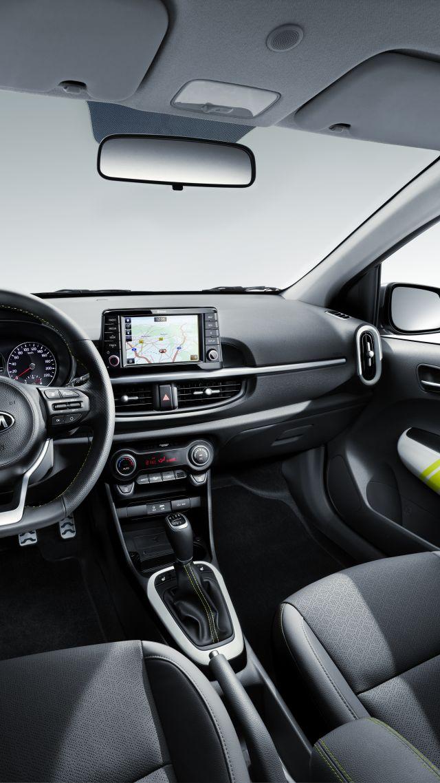 Wallpaper Kia Picanto X-Line, 2018 Cars, interior, 8k, Cars & Bikes ...