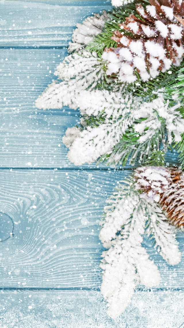 Christmas, New Year, fir-tree, snow, 5k (vertical)