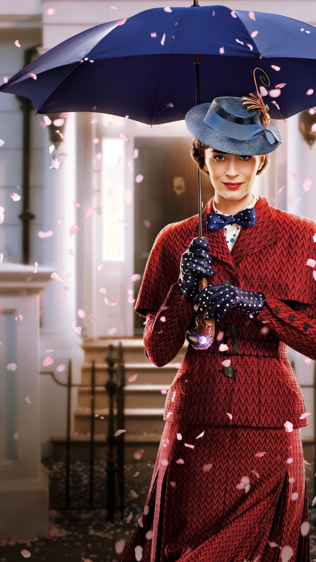 Mary Poppins Returns, Emily Blunt, poster, 8K (vertical)