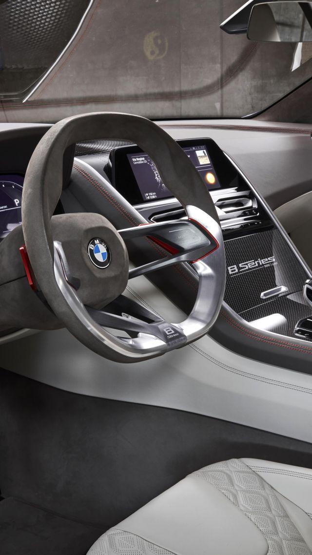 Bmw 8 Series Cars 2018 Interior 4k Vertical
