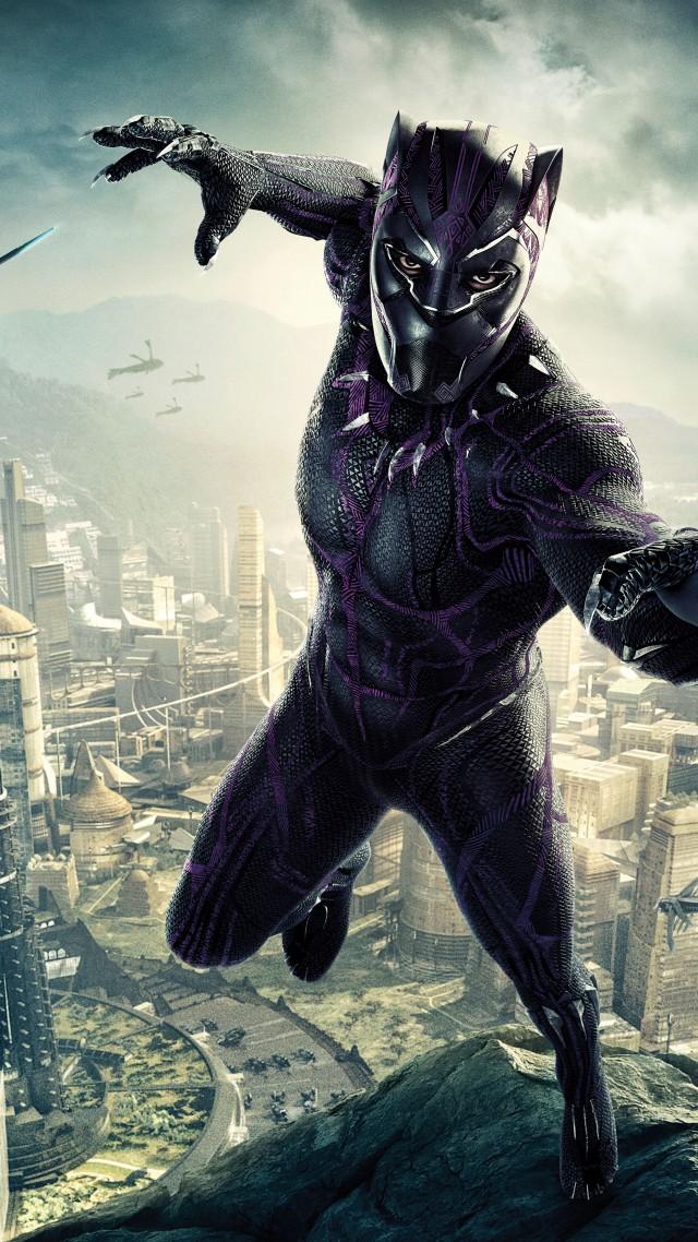 Wallpaper Black Panther Poster 8k Movies 17476