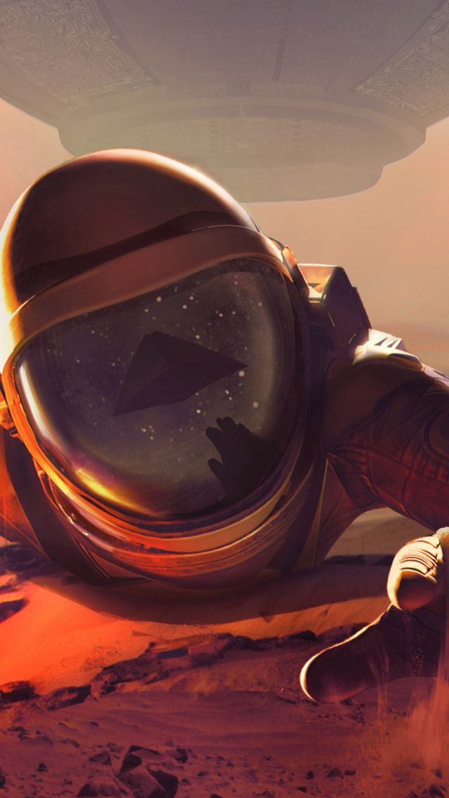 Downward Spiral: Horus Station, poster, astronaut, VR, 4k (vertical)
