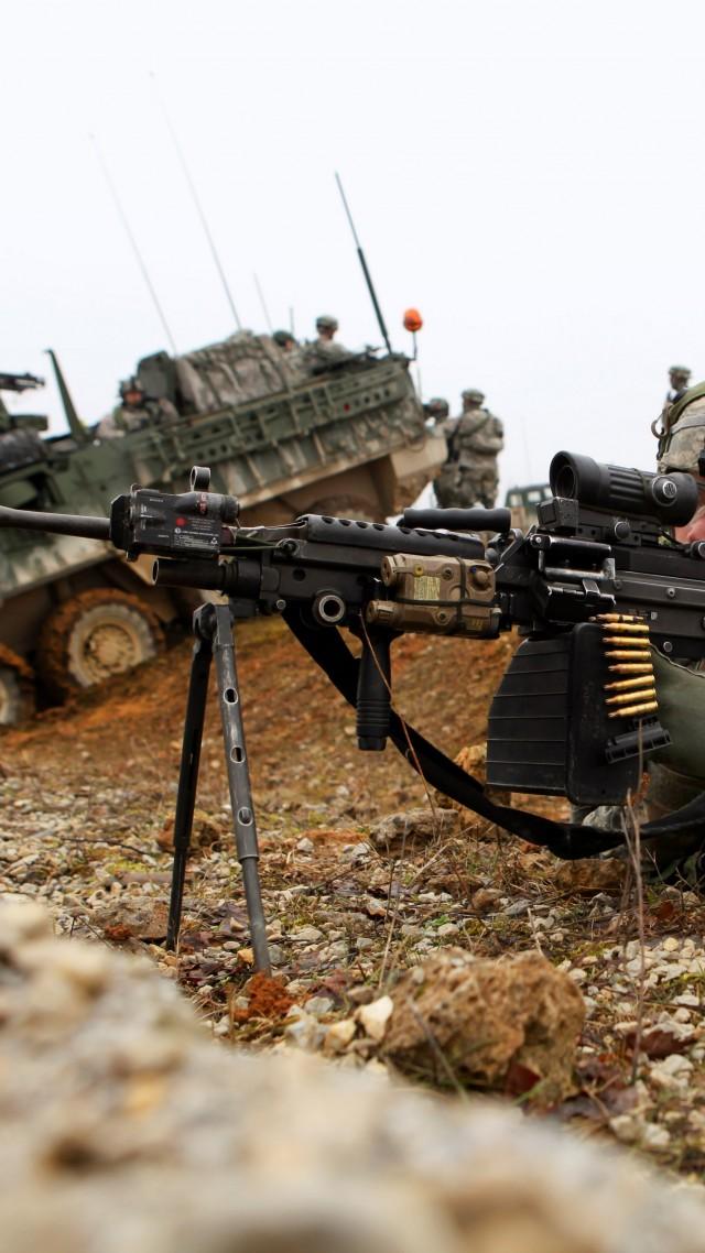 Wallpaper M249 Lmg Light Machine Gun Saw Mk 48 Soldier