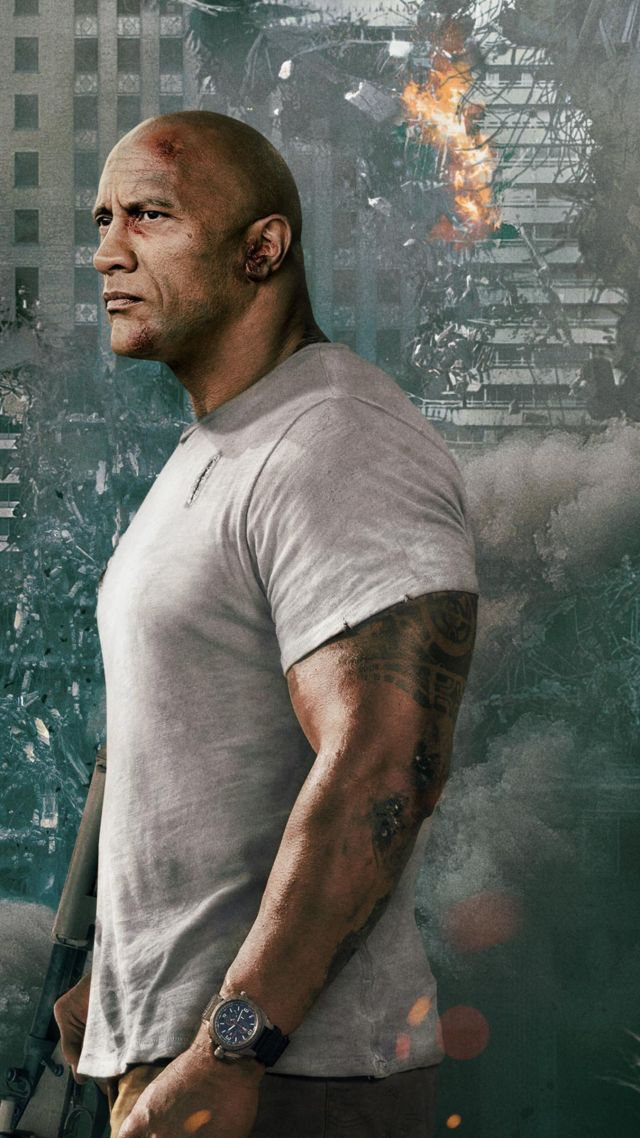 Rampage, Dwayne Johnson, 4k (vertical)