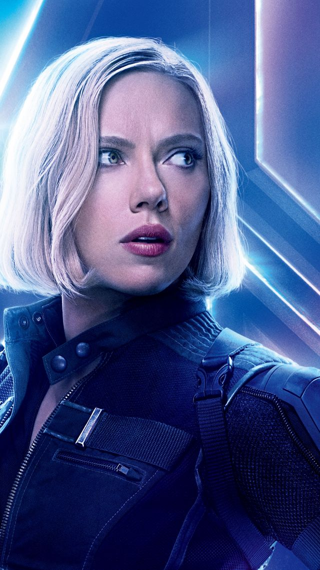 ... Avengers: Infinity War, Black Widow, Scarlett Johansson, 8k (vertical)