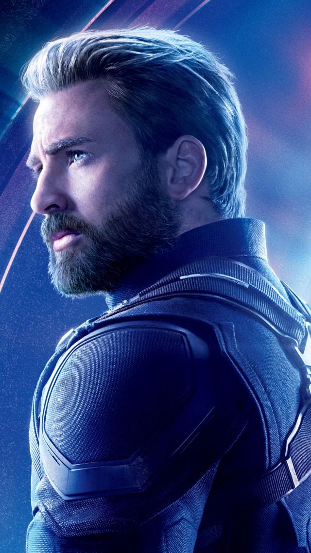 Wallpaper Avengers Infinity War Captain America Chris Evans 8k