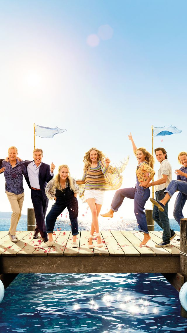 Mamma Mia! Here We Go Again, Christine Baranski, Julie Walters, Amanda Seyfried, Pierce Brosnan, 5k (vertical)