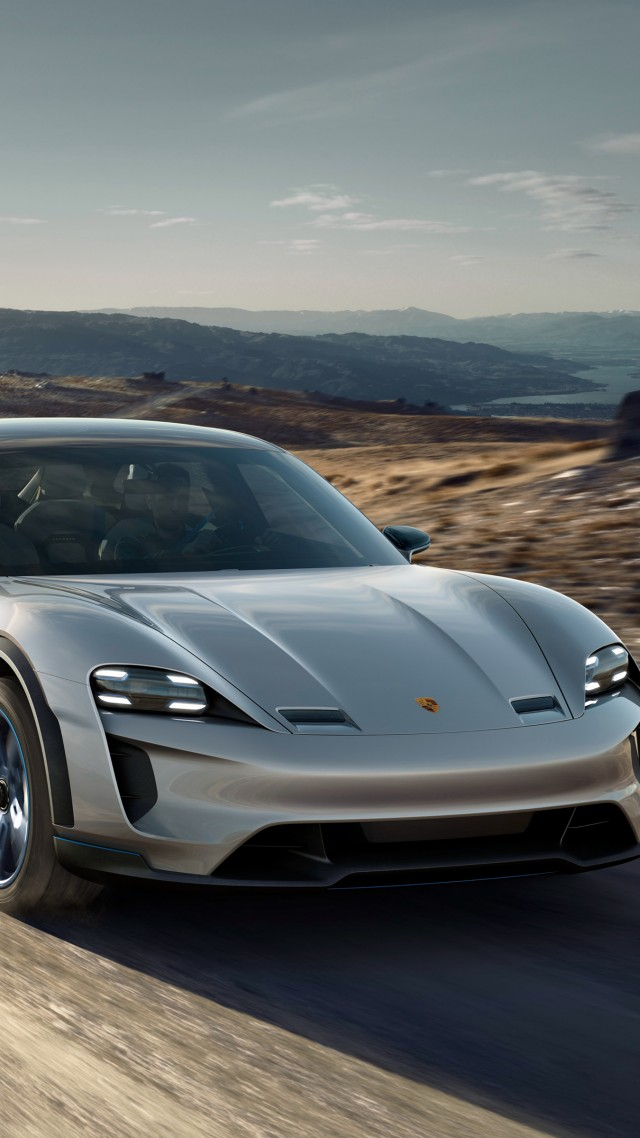 Porsche Mission E Cross Turismo, electric cars, 4k (vertical)