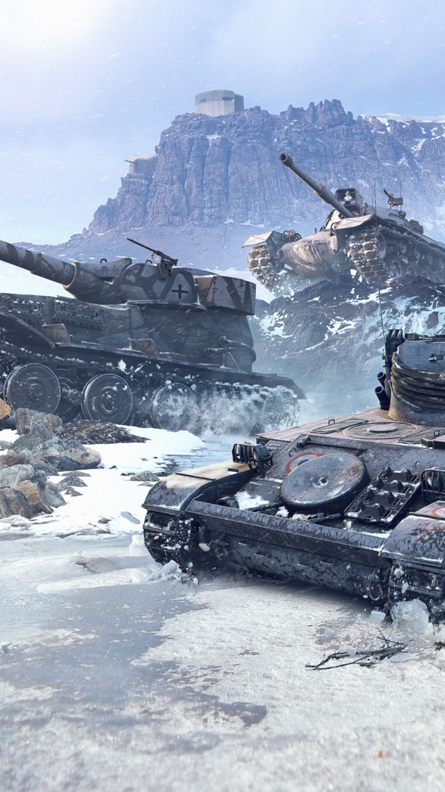 World of Tanks 1.0, Glacier, 4K (vertical)