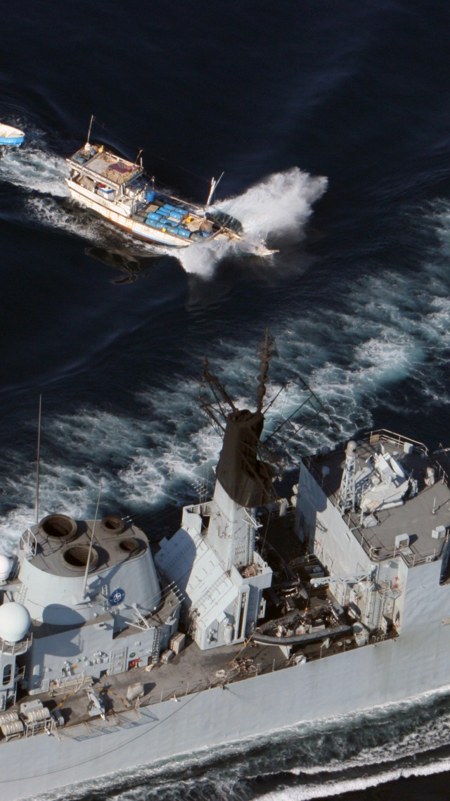 Wallpaper Hms Cumberland F85 Frigate Type 22 Royal Navy Somali