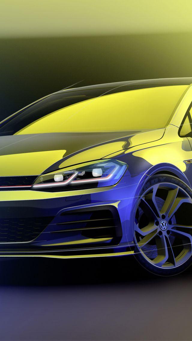 Wallpaper Volkswagen Golf Gti Tcr Concept 2018 Cars 4k Cars