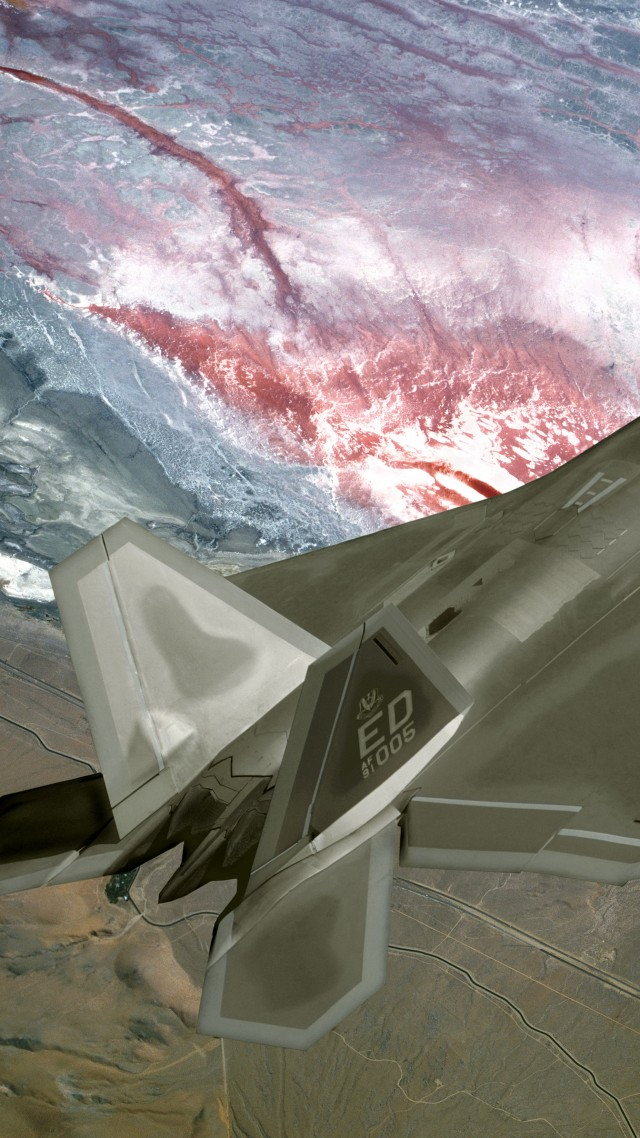 F-22, Raptor, Lockheed, Martin, stealth, air superiority fighter, U.S. Air Force (vertical)