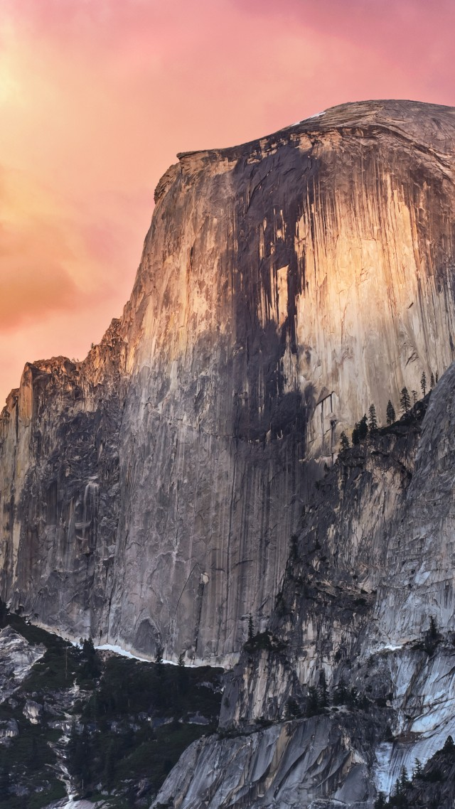 El Capitan, yosemite, 5k wallpapers, forest, OSX, apple, mountains, sunset