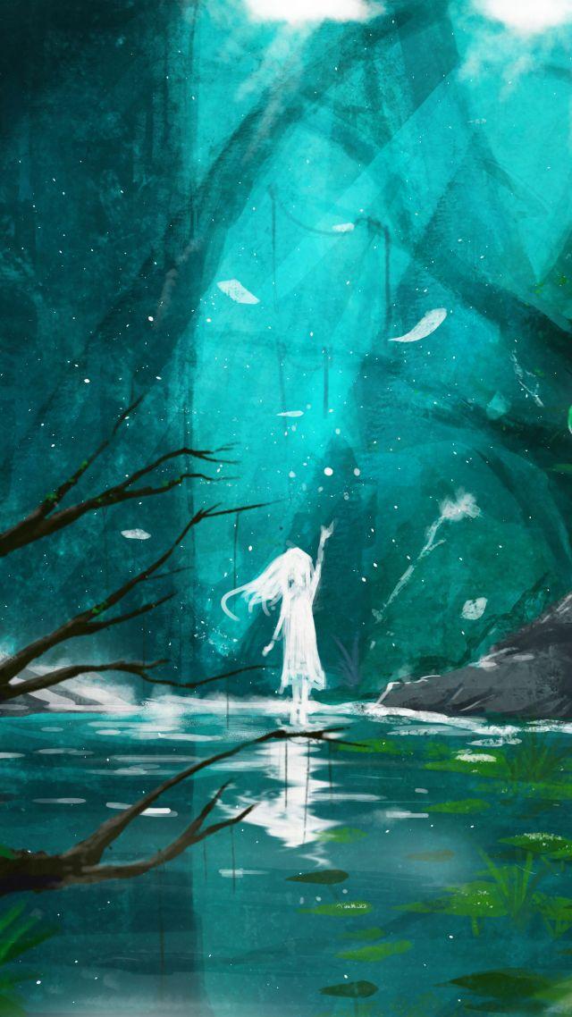 Wallpaper Girl Fantasy Forest World 4k Art 18538