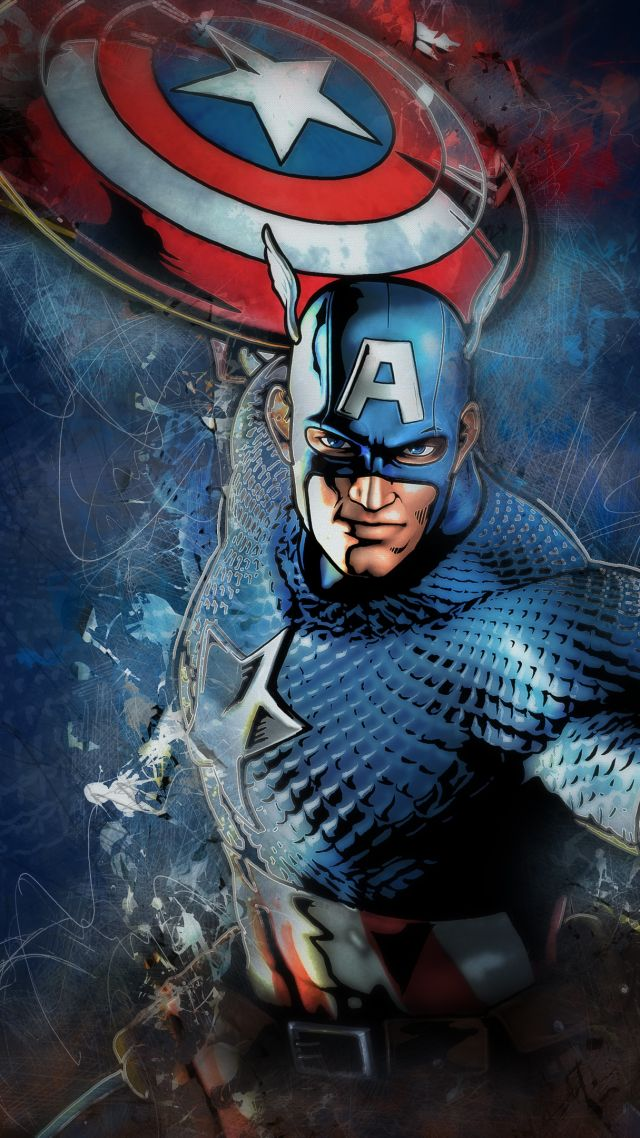 ... Captain America, Marvel Comics, 4K (vertical)
