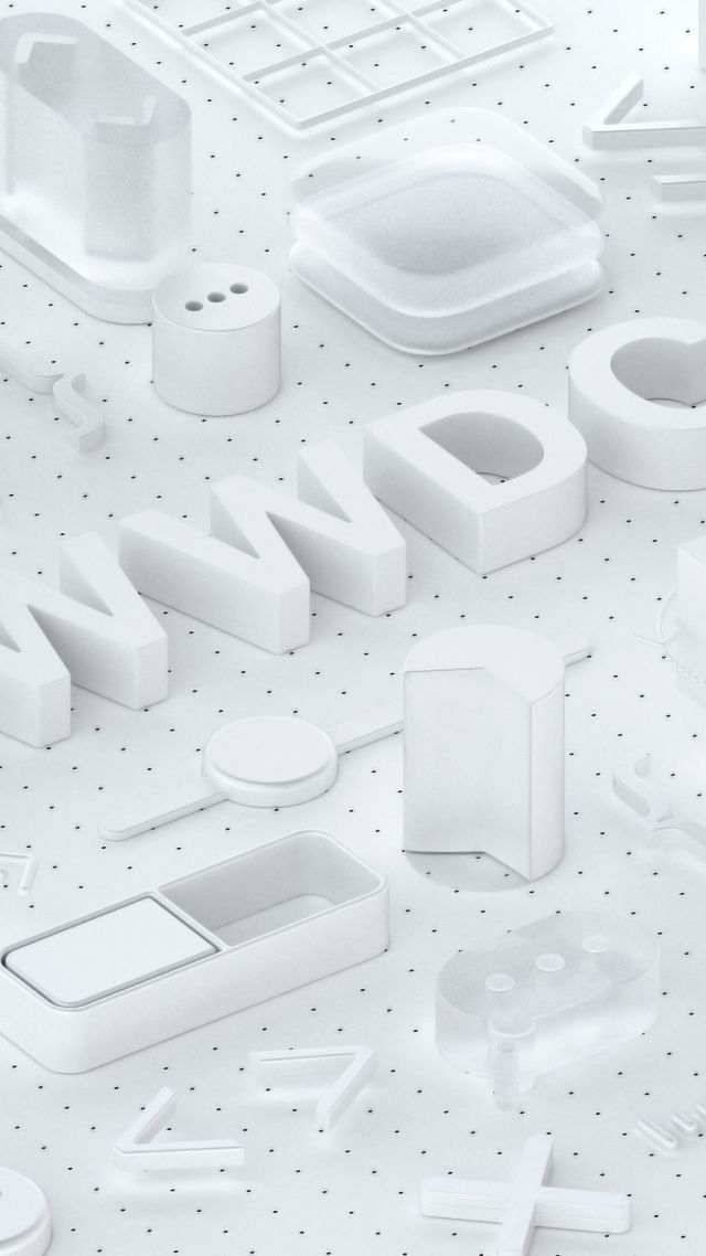 WWDC 2018, White, 3D, 4K (vertical)