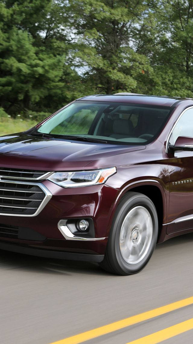 Chevrolet Traverse, SUV, 2018 Cars, 4K (vertical)