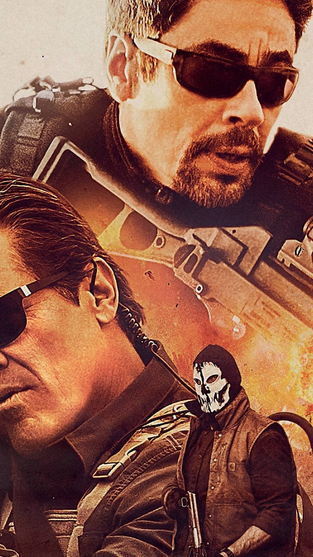 Sicario: Day Of The Soldado, Josh Brolin, Benicio Del Toro, poster, 5K (vertical)