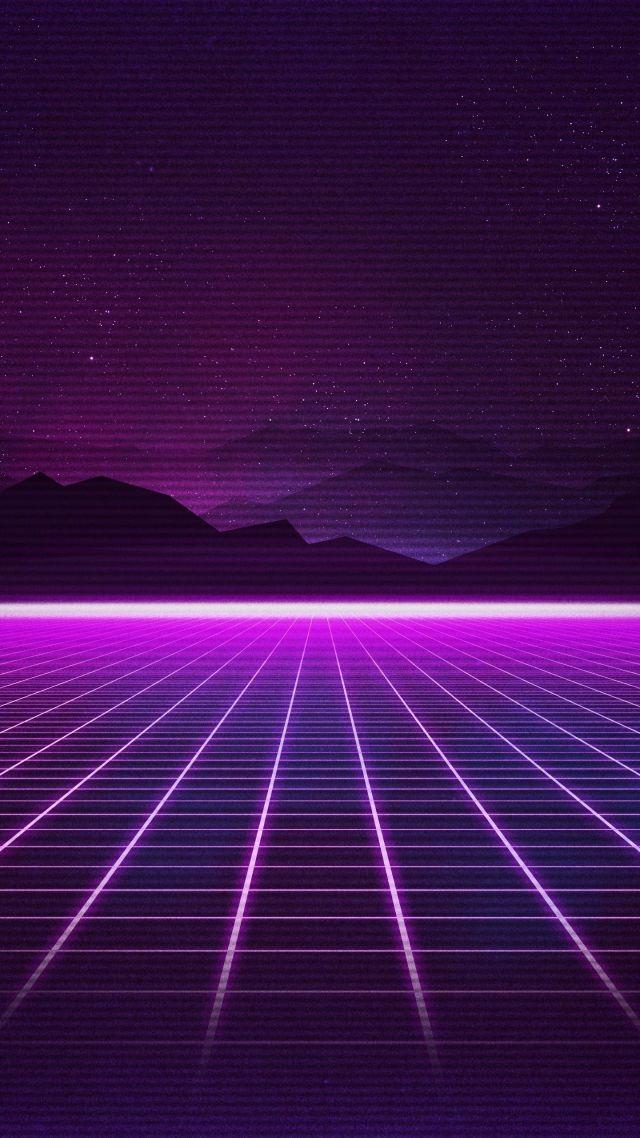 Wallpaper Retrowave Purple Lines 4k Art 18921