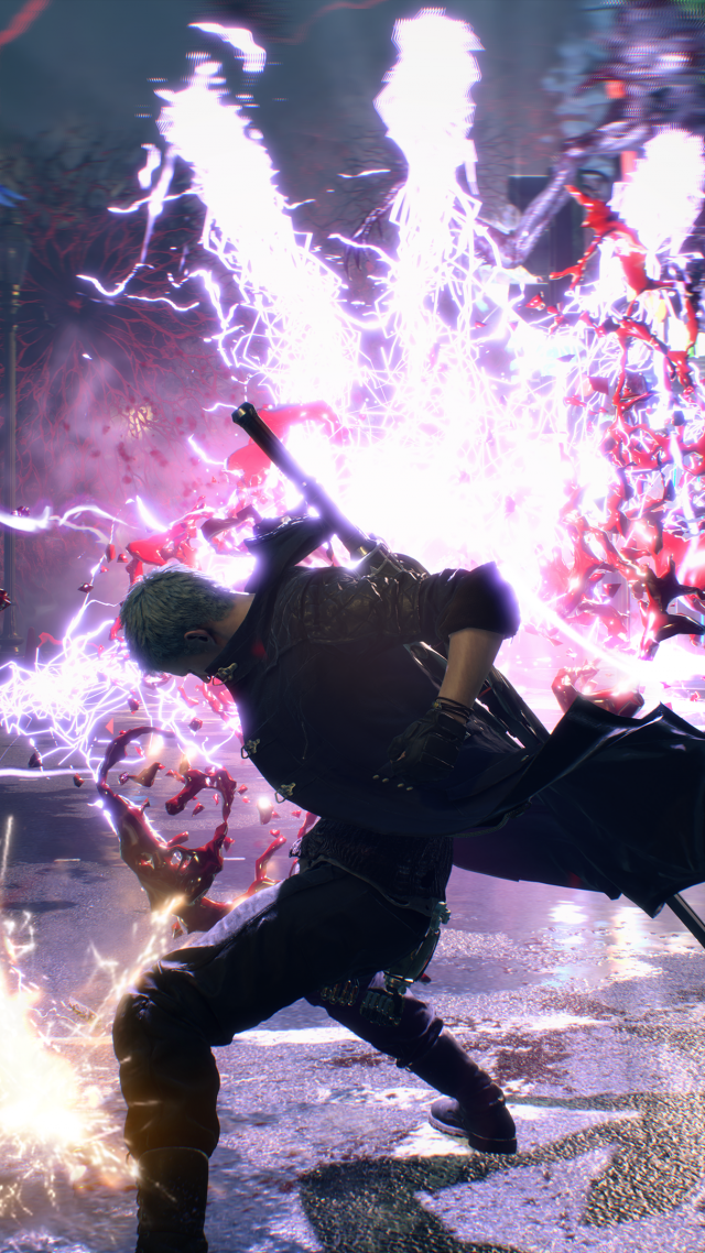 Devil May Cry 5, E3 2018, screenshot, 4K (vertical)