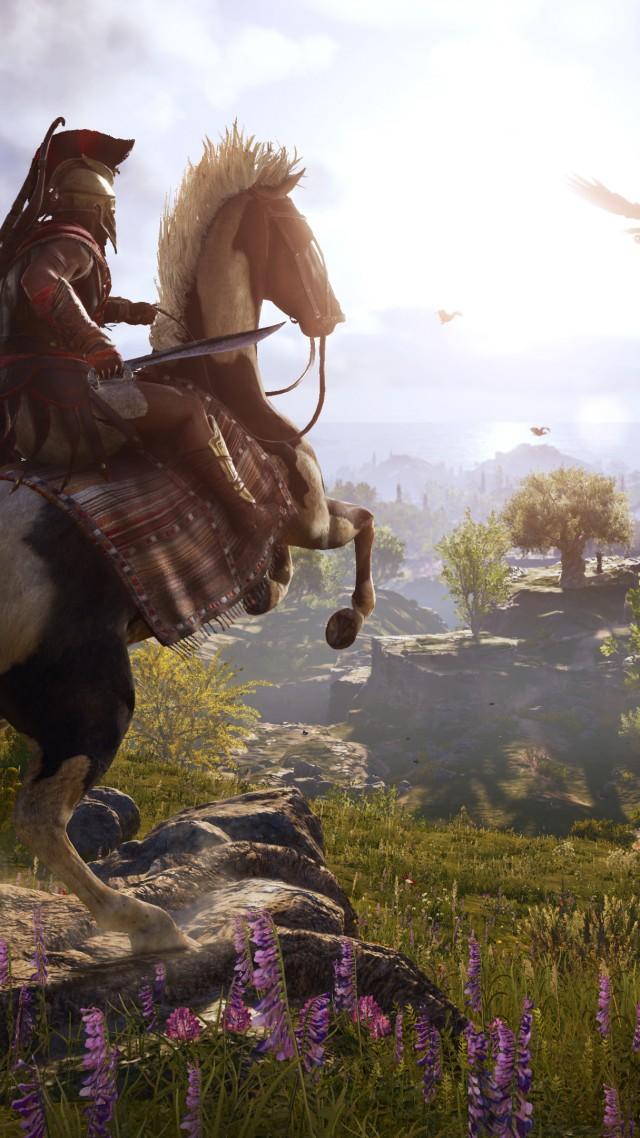 Assassin's Creed Odyssey, E3 2018, screenshot, 4K (vertical)
