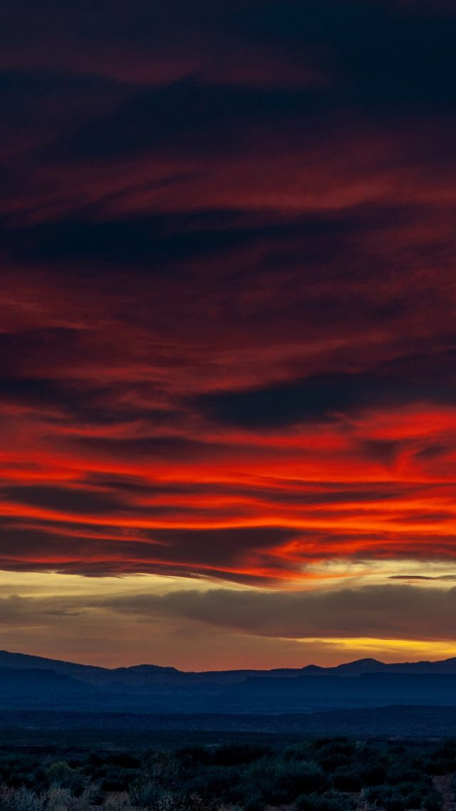 sunset, sky, clouds, 4K (vertical)