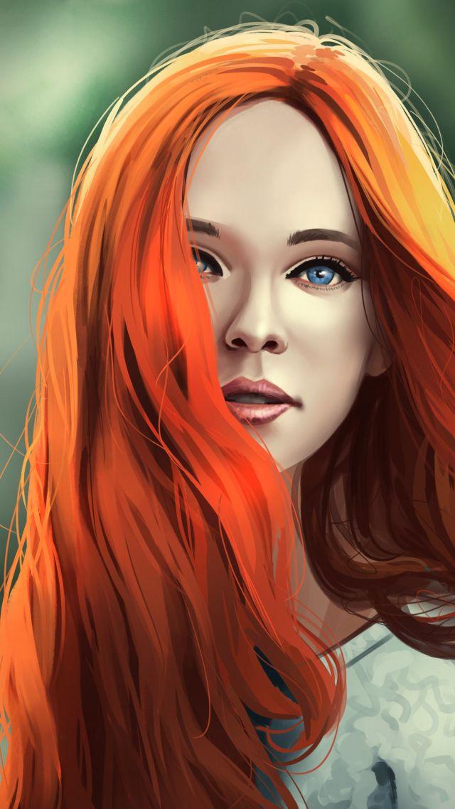 Wallpaper girl, redhead, 4K, Girls #19587