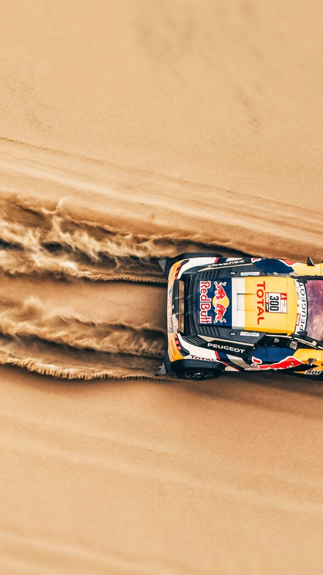 Rally, sand, 4K (vertical)