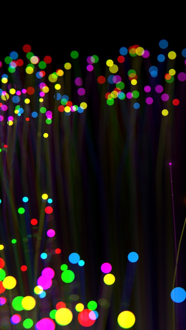 lights, colorful, dark, 4K (vertical)
