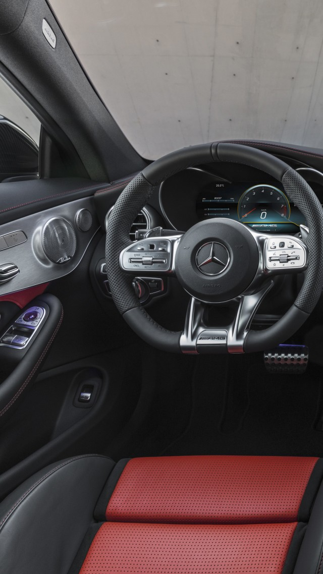 ... Mercedes-Benz C63 S AMG Coupe, 2019 Cars, 4K (vertical)