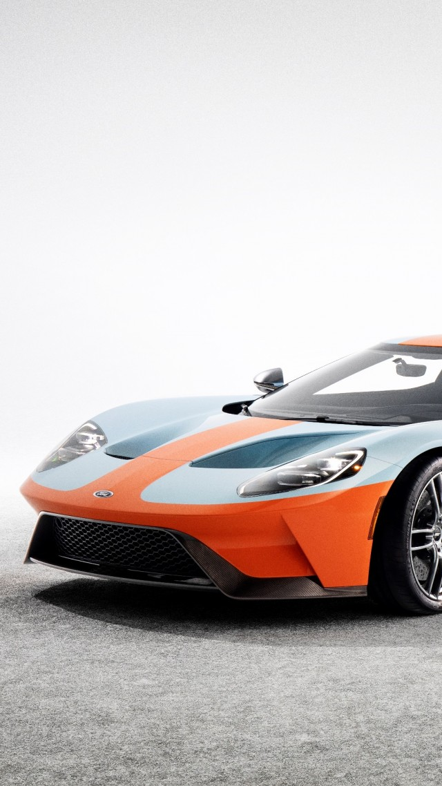 Ford GT Heritage Edition, 2019 Cars, supercar, 4K (vertical)
