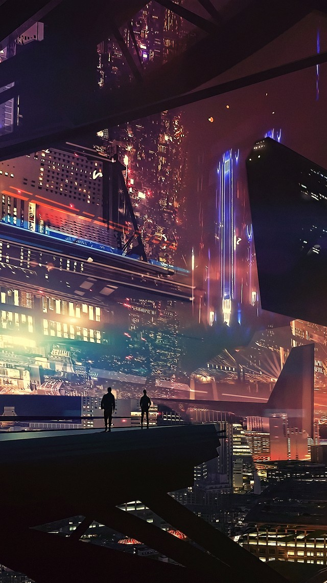 Wallpaper Spaceship Future World Cyberpunk Futuristic 4k Art 20323
