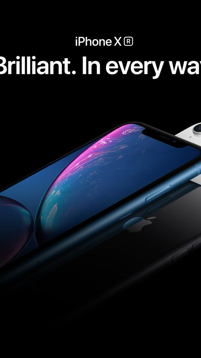IPhone XR Blue Black White Smartphone Apple September 2018 Event