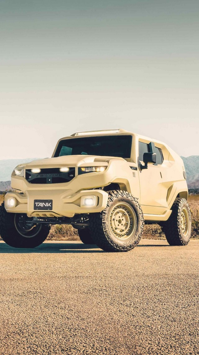Rezvani Tank Military, SUV, 2018 Cars, HD (vertical)
