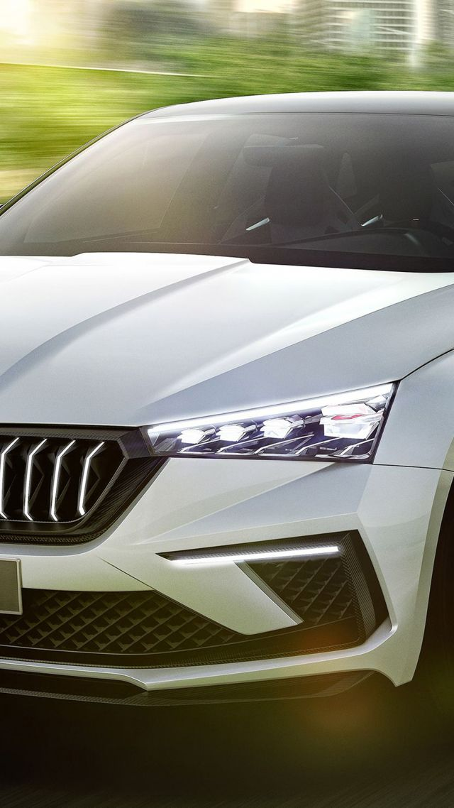 Skoda Vision RS, electric cars, 4K (vertical)