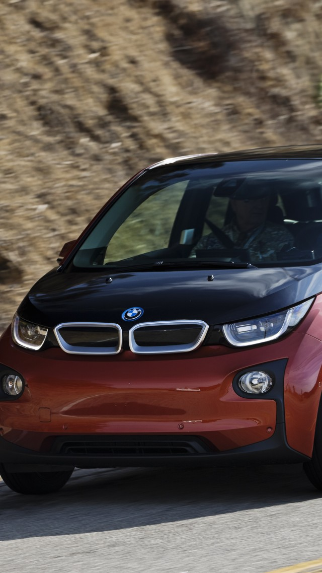 BMW i3, hybrid, REx, MCV, carbon, city car, BMW, Project I, road, red (vertical)