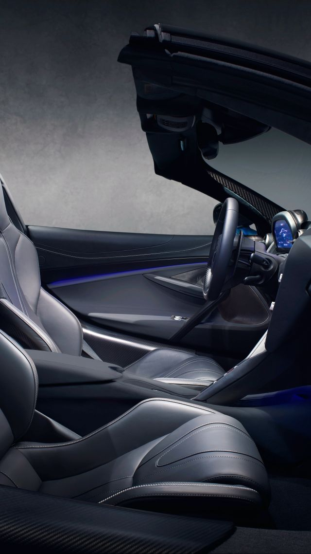 McLaren 720S Spider, interior, supercar, 2019 Cars, 4K (vertical)