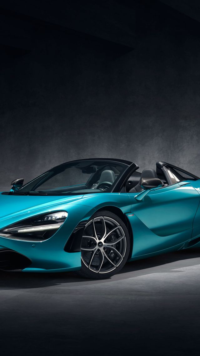 McLaren 720S Spider, supercar, 2019 Cars, 4K (vertical)