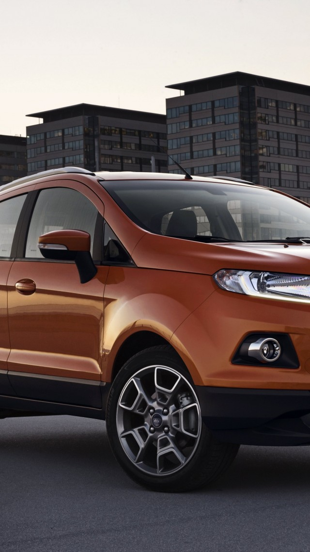 Ford EcoSport, ecosafe, SUV, Ford, Gen 2, SYNC, crossover, Titanium, LHD, front (vertical)
