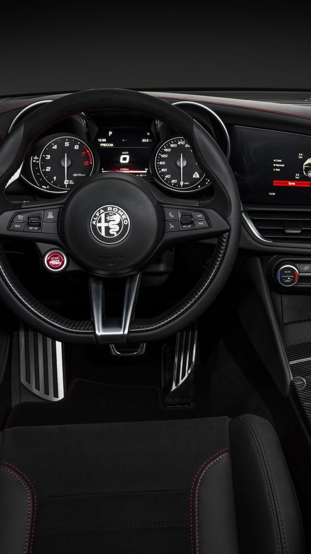 Wallpaper Alfa Romeo Giulia Quadrifoglio Geneva Motor Show