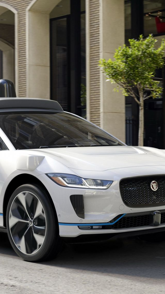 Jaguar I-Pace EV400 Waymo, 2019 Cars, SUV, electric cars, 4K (vertical)