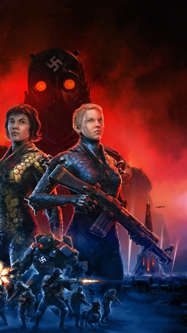 Wolfenstein: Youngblood, E3 2019, artwork, 8K (vertical)