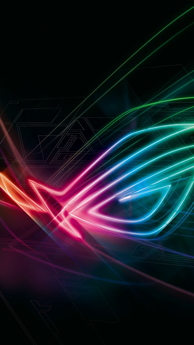 Wallpaper Asus ROG Phone 2, colorful