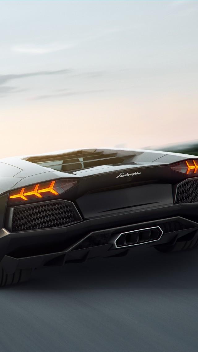 Lamborghini 5k 4k Wallpaper 8k Supercar Aventador Black Vertical